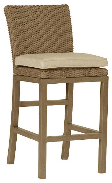Rustic Counter Height Outdoor Bar Stool With Cushion 24 Seat Patio F