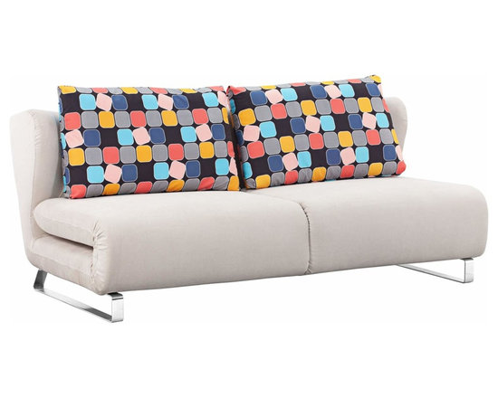 Conic Cement Gray Zuo Sleeper Sofa - Zuo Conic Cement Sleeper Sofa