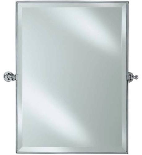 Adjustable Bathroom Wall Mirrors: Afina RM-836-SN Radiance Rectagular Adjustable Tilting
