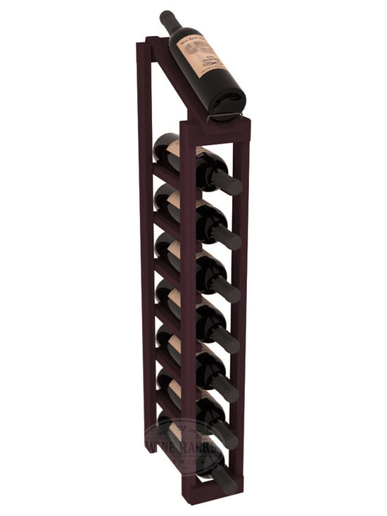 Wine Racks America - 1 Column 8 Row Display Top Kit in Redwood, Burgundy Stain - Make your best vintage the focal point of your cellar or store. The slim design is a perfect fit for almost any space. Our wine cellar kits are constructed to industry-leading standards. You'll be satisfied. We guarantee it. Display top wine racks are perfect for commercial or residential environments.