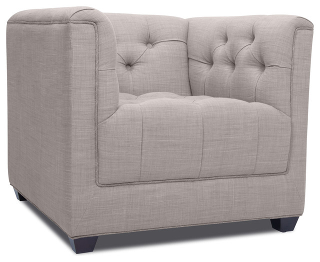 Grand Grey Deluxe Arm Chair modern-living-room-chairs