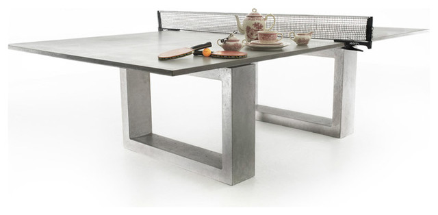 Concrete Ping Pong + Dining Table modern-outdoor-tables