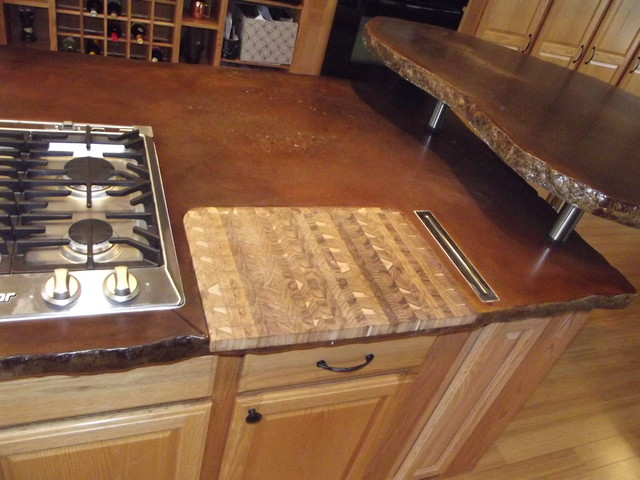 Thomas Concrete Countertop Island - Eclectic - Kitchen Countertops - other metro - by Coates ...