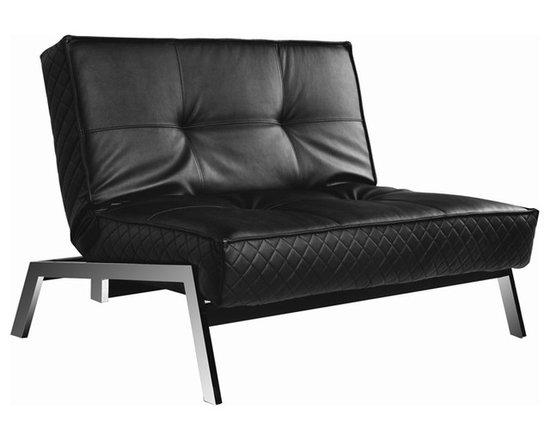 Abbyson Living - Venice Black Convertible Euro Chair Lounger -