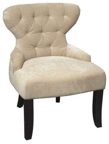Office Star Curves Hour Glass Chair - Vintage Linen contemporary chairs
