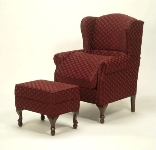 Risedale seat lift wingback chair w matching ottoman in for Matching arm chairs