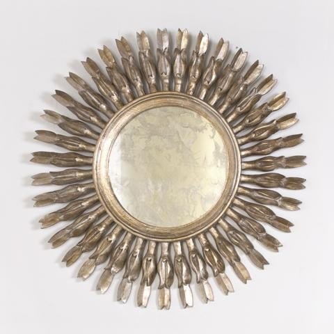 Worlds Away Liz Silver Leafed Mirror traditional-mirrors