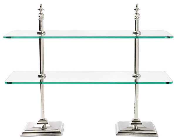 Nickel Plated Brass and Glass Stand - Display And Wall Shelves - miami ...