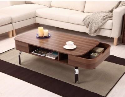 Lawson Modern Walnut 2-Drawer Coffee Table modern-coffee-tables