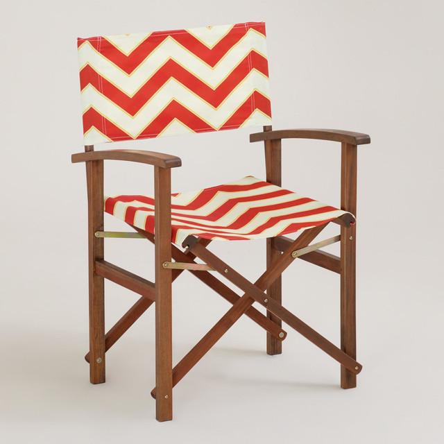 Chevron Bali Club Chair, Canvas contemporary-outdoor-chairs