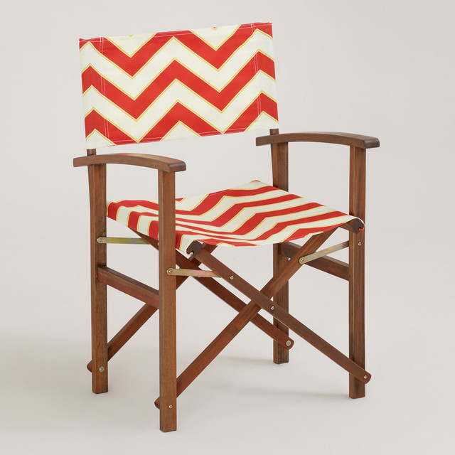 Chevron Bali Club Chair Canvas Contemporary Outdoor Folding Chairs by
