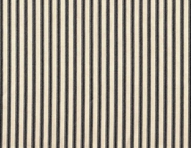 "15"" California King Bedskirt Tailored Black Ticking Stripe traditional-bedskirts"