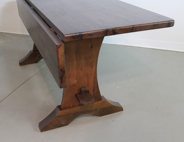 Reclaimed Wood Table with Drop Leaf Farmhouse Dining Tables boston by