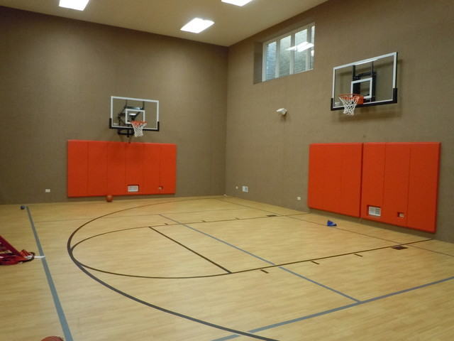 Indoor sport courts for Home plans with indoor sports court