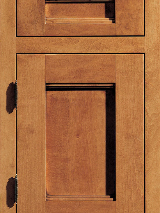 """Dura Supreme Cabinetry Breckenridge Panel Inset Cabinet Door Style - Dura Supreme Cabinetry """"Breckenridge Panel"""" inset cabinet door style in Maple shown with Dura Supreme's """"Ginger"""" with """"Coffee"""" Glaze finish. (With Non-Beaded Frame)"""