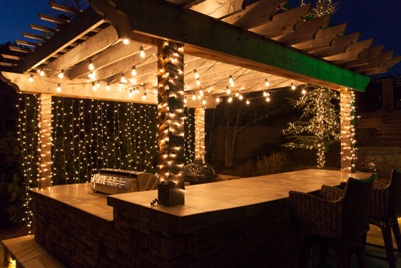 outdoor patio lights icicle lights contemporary outdoor lighting - Ideas For Outdoor Patio Lighting