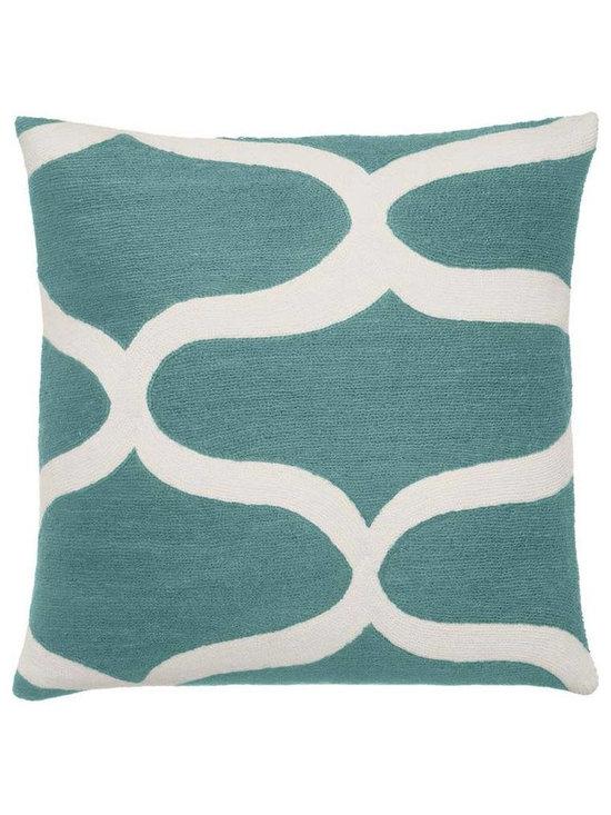 Waves Pool Cream Pillow -