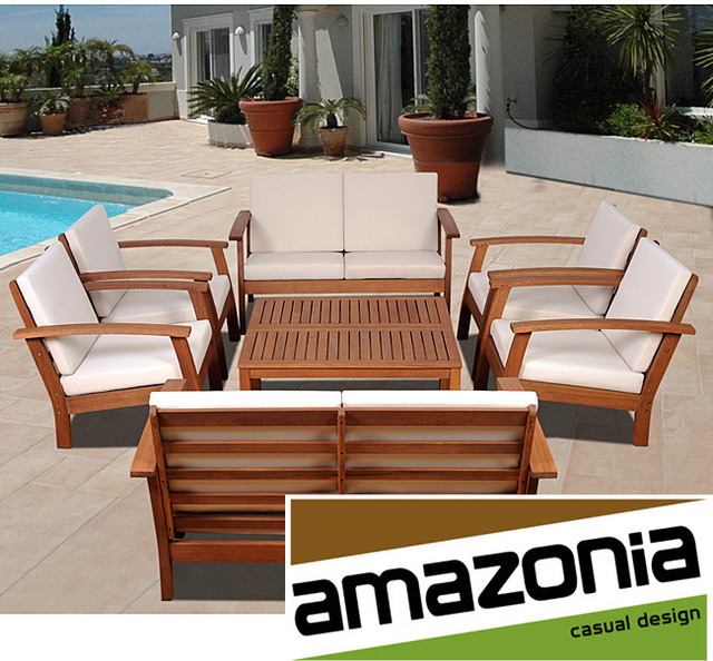 Pacific 8 piece Conversation Living Room Set Contemporary Outdoor Lounge