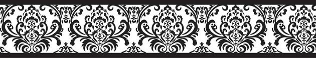 Isabella Black and White Wall Paper Border by Sweet Jojo Designs traditional-wallpaper