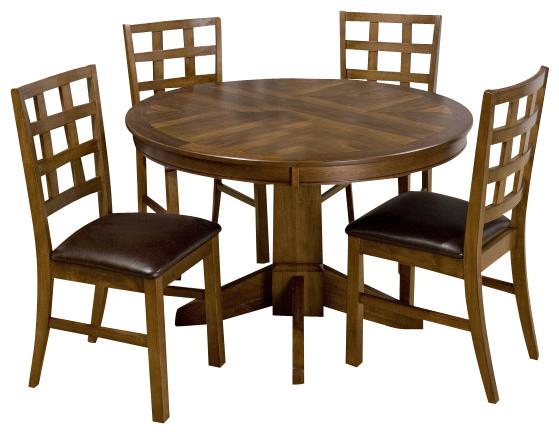 Jofran wenatchee falls walnut 5 piece dining room set for Furniture wenatchee