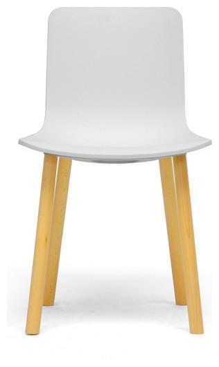 Lyle Black Plastic Modern Dining Chair White