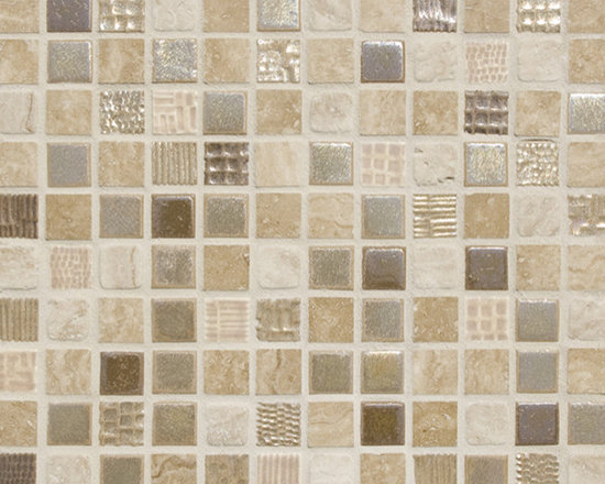 Cascade Blend #4 - The Cascade Collection includes 11 different blends of ceramic tile and natural stone