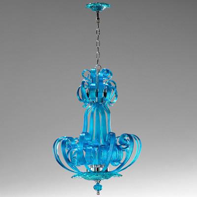Aqua Florence Chandelier eclectic-chandeliers