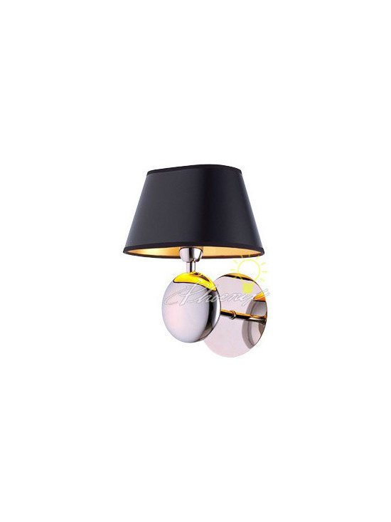 Fabric and Stainless steel wall sconce lighting in Chrome - size:L7.7'' X H9.6'' X W4''