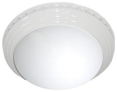 Bath Fans: NuVent Decorative White Dome 100 CFM Ceiling Exhaust Bath Fan NXMD100 contemporary-ceiling-fans