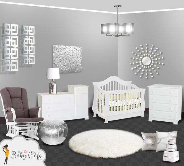 Silver Modern Baby Nursery Other Metro By