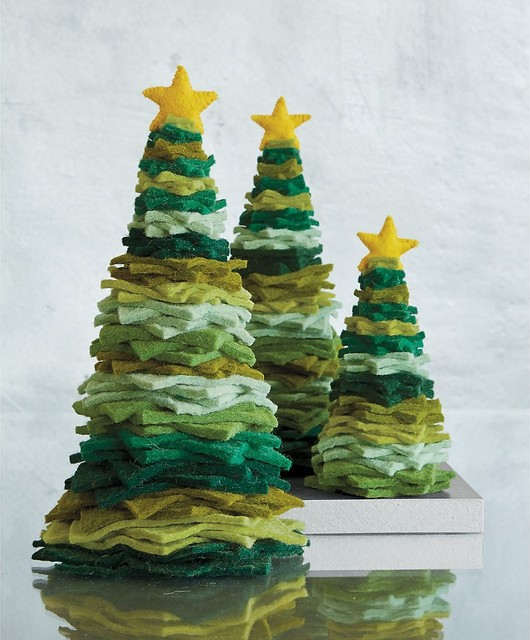 Felt Holiday Tree Christmas Decoration contemporary-christmas-decorations