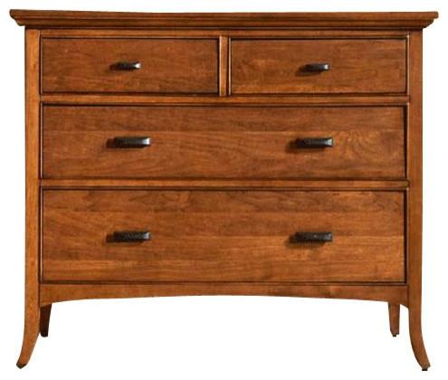 Cresent Fine Furniture Modern Shaker Small Media Dresser in Cherry traditional-furniture