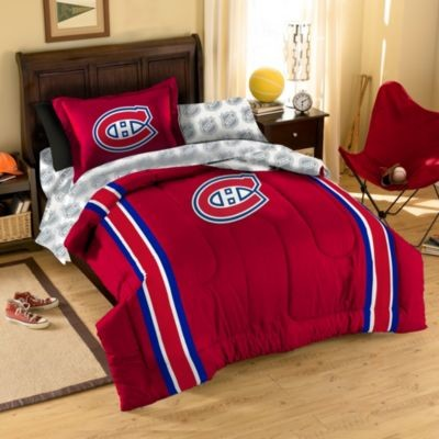 nhl montreal canadiens complete comforter set contemporain couvre lit et parure couvre lit. Black Bedroom Furniture Sets. Home Design Ideas