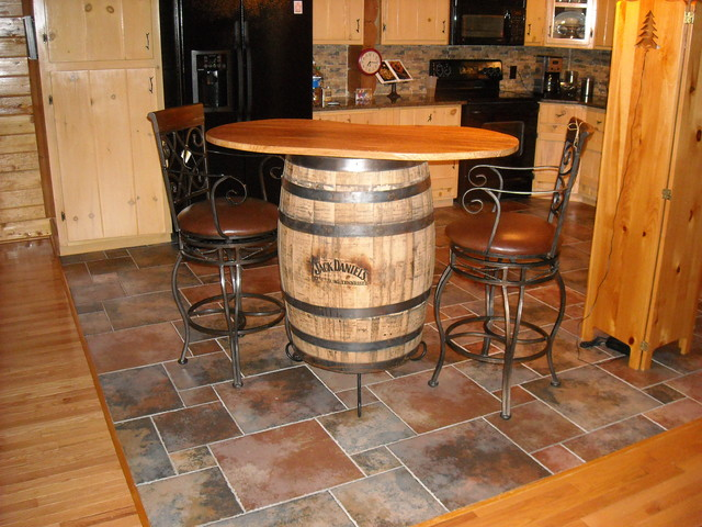 Jack Daniels Barrell Table Top Traditional Table Tops