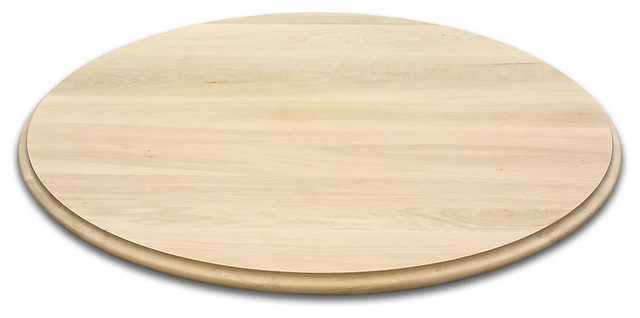 Round Wood Table Tops White Oak Traditional