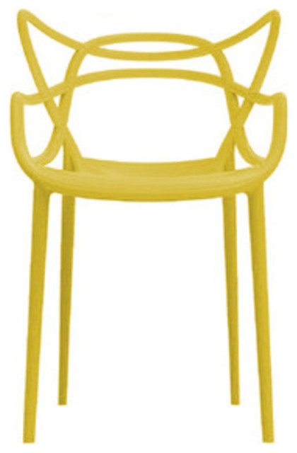 Masters Chair, Set of 2, Mustard modern-living-room-chairs
