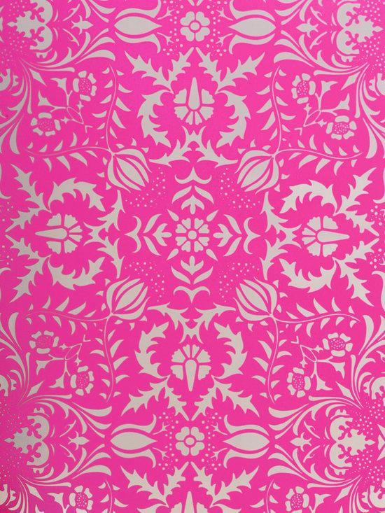 Dauphine Hot Pink Damask Wallpaper - Dauphine Hot Pink Damask Wallpaper
