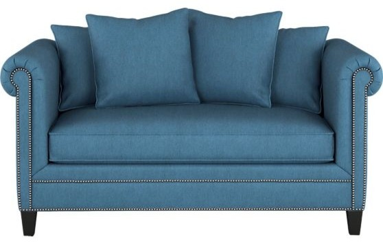 Tailor Loveseat, Peacock contemporary love seats