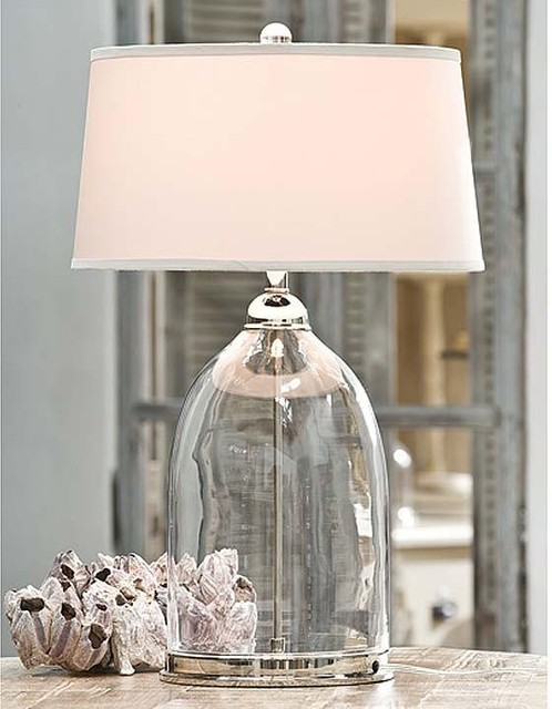 Regina Andrew Glass and Polished Nickel Dome Table Lamp traditional-table-lamps