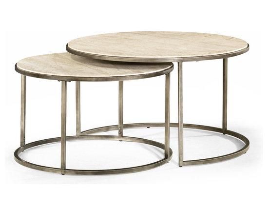 Round Nesting Coffee Tables - Modern Basics by Hammary -