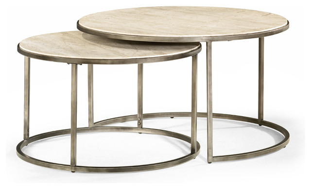 Round Nesting Coffee Tables Modern Basics By Hammary Modern Coffee Tables By Hammary