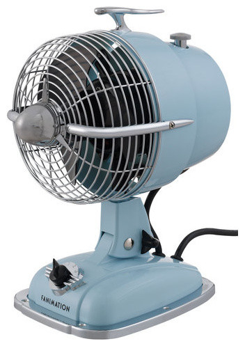 Fanimation urbanjet 12 inch tall 3 blade retro oscillating for 12 inch oscillating table fan