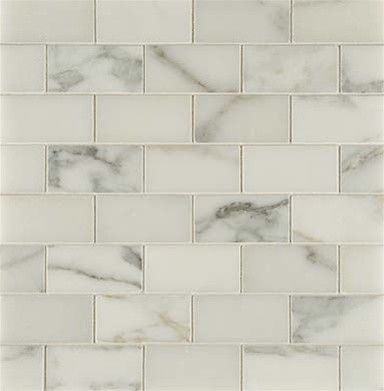 3x6 Calacatta Gold with Straight Edge - Polished traditional kitchen tile