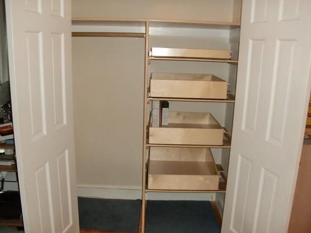 Closet Pull Out Shelves - Closet Organizers - boston - by ShelfGenie of Massachusetts