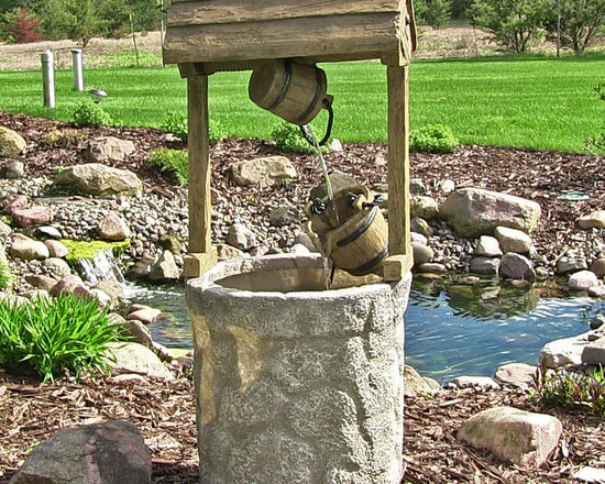 Outdoor Classics American Wishing Well Outdoor Fountain -