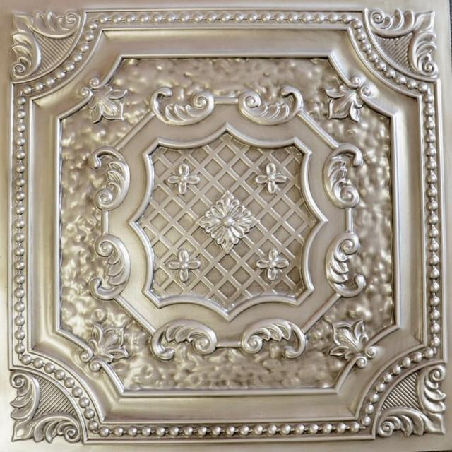 Dct 04 Antique White Faux Tin Ceiling Tile 24x24 Ceiling