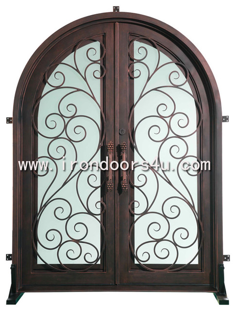 Iron entry door----DAD-005 traditional front doors