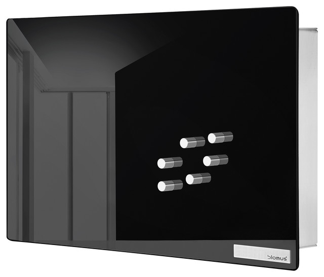Blomus Velio Glass Magnet Board, Black, Small - Modern - Bulletin Boards And Chalkboards - by ...