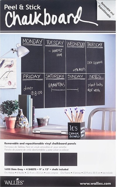 Wallies Chalkboard Tiles contemporary bulletin board