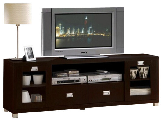 Commerce Collection Espresso Finish Wood TV Stand ...